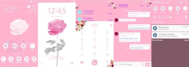 Samsung Galaxy Theme - Rose