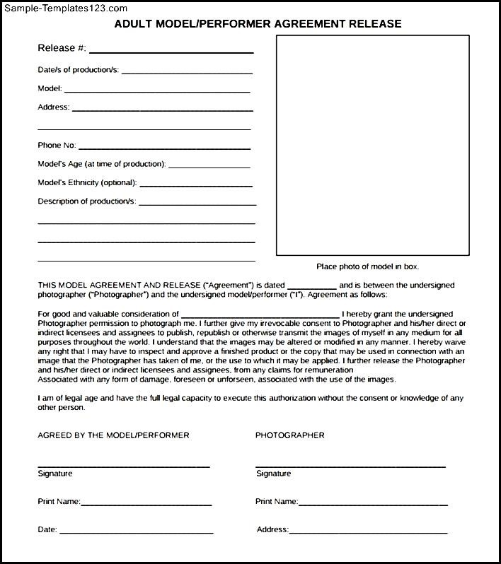 Model talent release form  Crab fishing season in california - sample talent release form