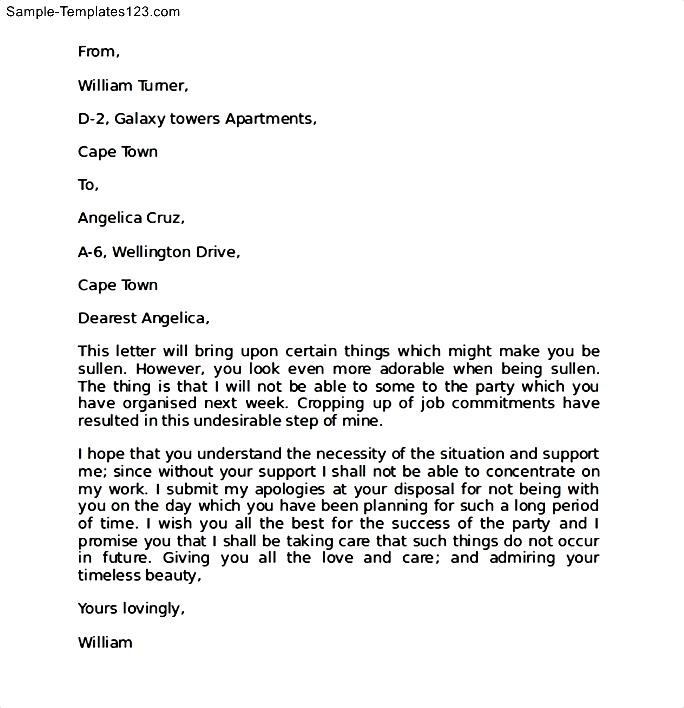 How To Write An Apology Letter To Your Girlfriend Gallery - Letter - letter of apology sample