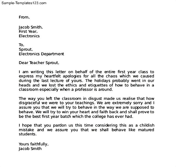 Sample Apology Letter For Being Late - Resume Template Sample - how to make an apology letter