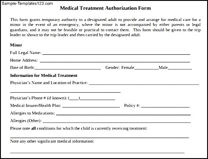 Best Example For Child Medical Consent Form - Sample Templates - child medical consent form