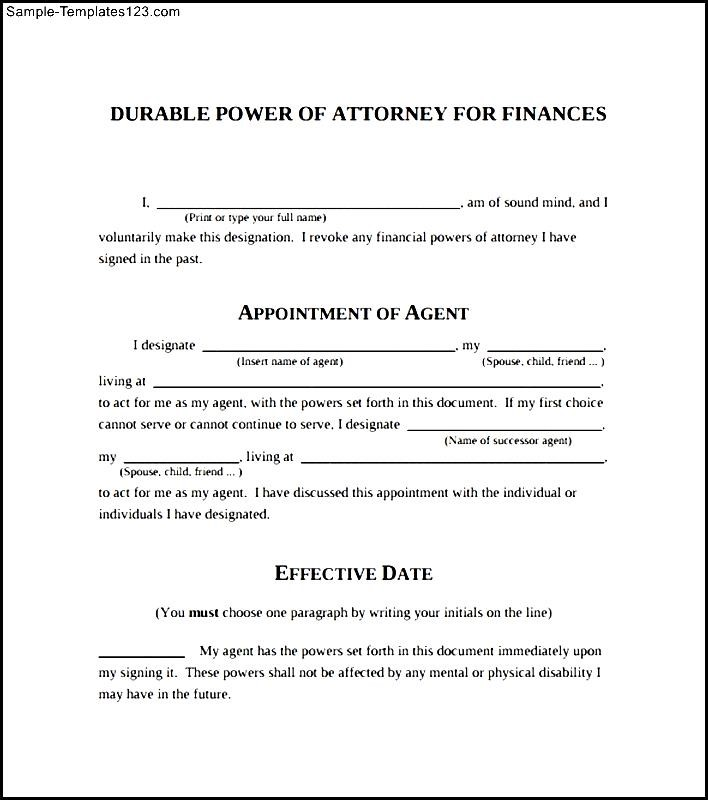 Modern Blank Power Of Attorney Form Component - Best Resume Examples