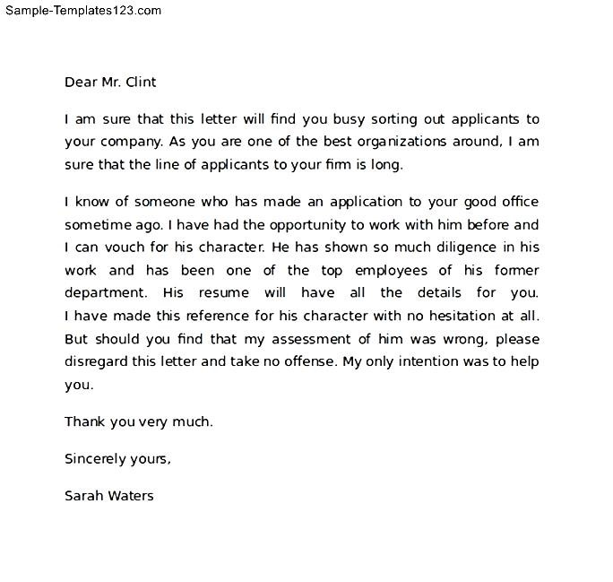 create my cover letter recommendation letter template job copy - letter of reference example for character