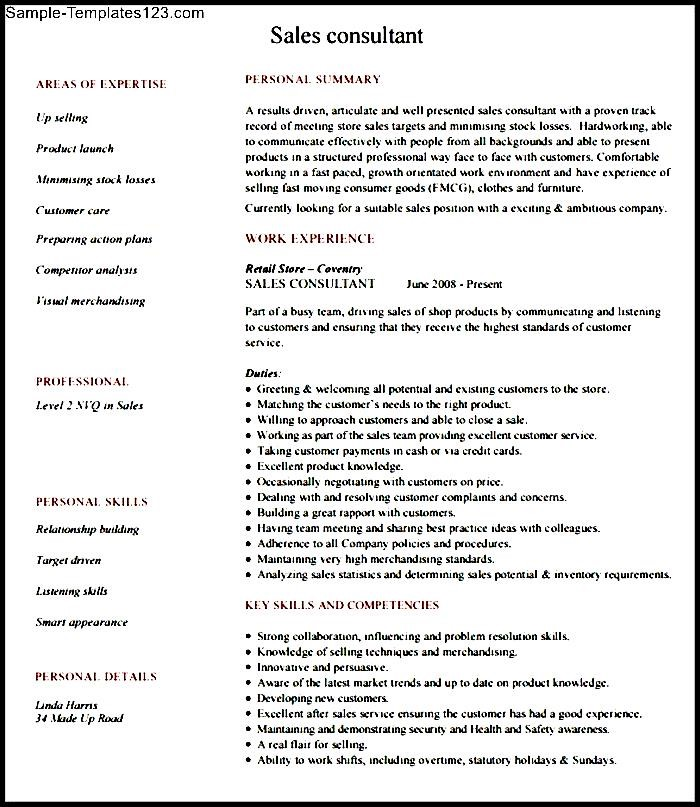 Sales Consultant Resume Examples and Templates - mandegarinfo
