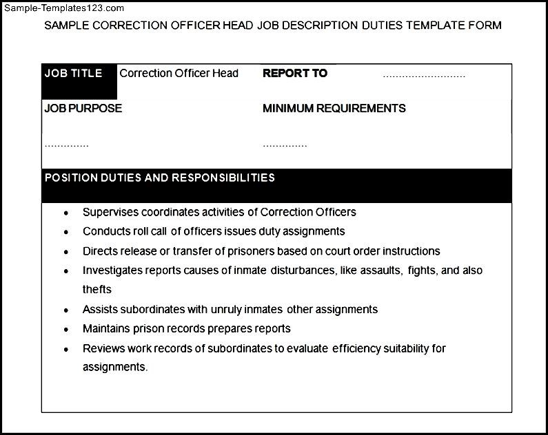 correction officer job description - Everything about news and tips