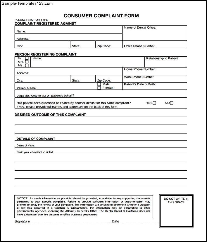 Consumer Form - Resume Template Sample - consumer form