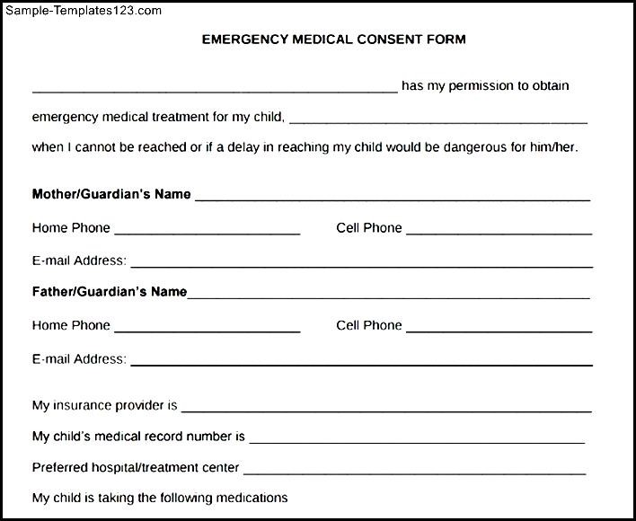Consent Form Template For Children - Costumepartyrun
