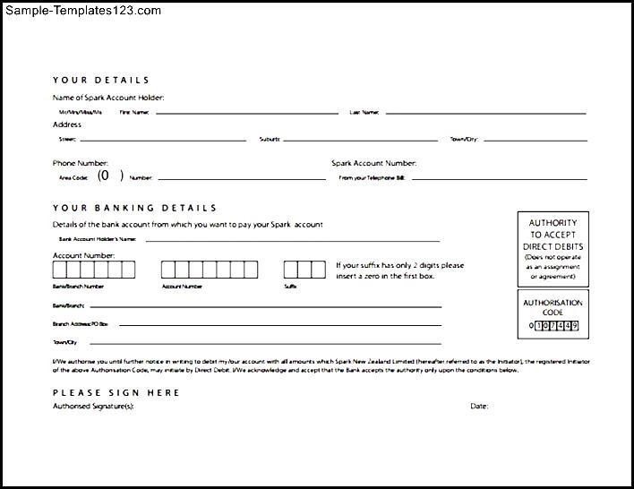 Outstanding Direct Debit Form Template Ideas - Resume Ideas - direct debit form