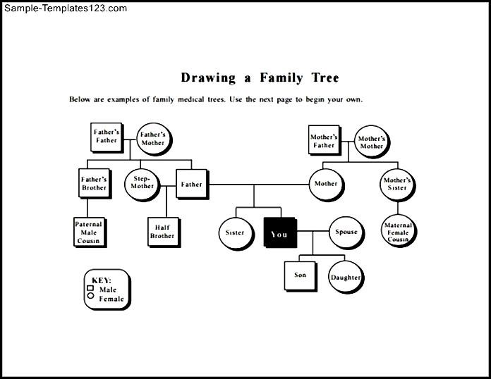 Family Tree Diagram Template Sample PDF - Sample Templates - Sample