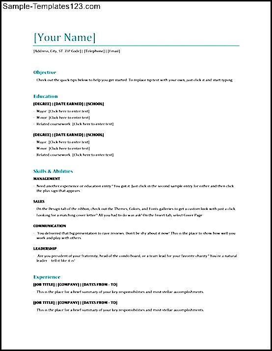 Free Esthetician Resume Template - Sample Templates - Sample Templates