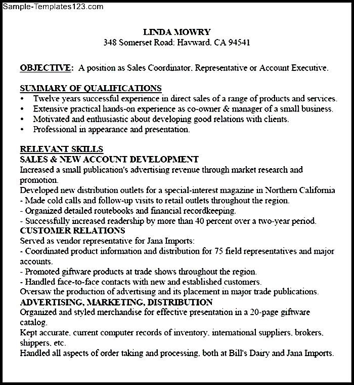 Functional Sales Resume PDF - Sample Templates - Sample Templates - functional sales resume