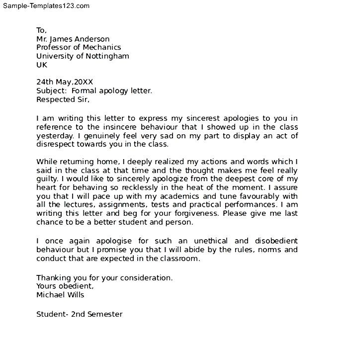 How To Write A Apology Letter To A Customer Gallery - Letter Format - letter of apology sample