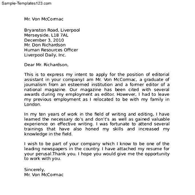 letter of intent job application - Erkaljonathandedecker