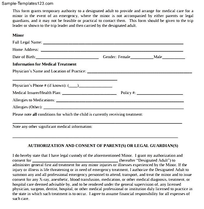 Medical Authorization Letter - Sample Templates - Sample Templates