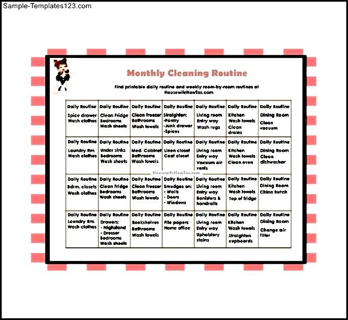 monthly house cleaning schedule - Minimfagency