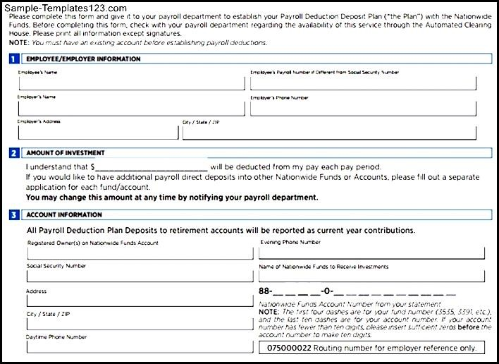Employee Deduction Form Template - Costumepartyrun - payroll form templates