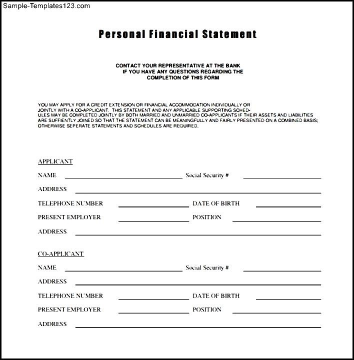financial statement form template - 28 images - personal financial - sample personal financial statement