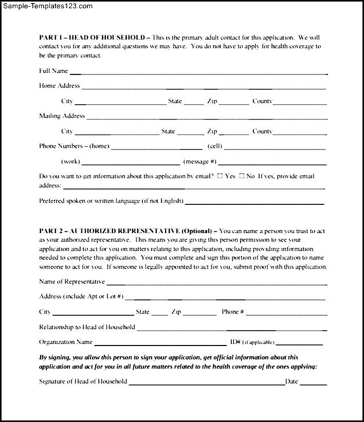 Printable Medicare Application Form - Sample Templates - Sample - medicare application form