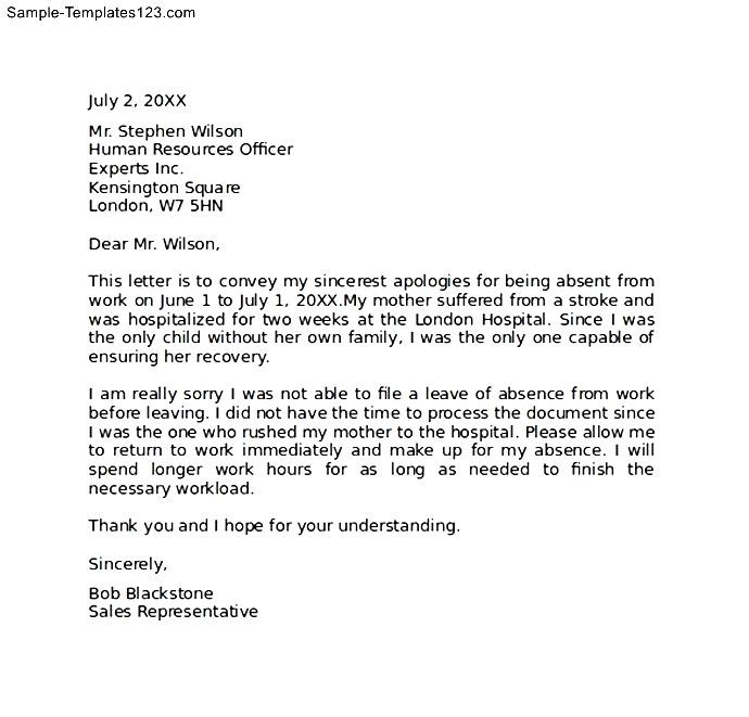 Professional Apology Letter Download - Sample Templates - Sample
