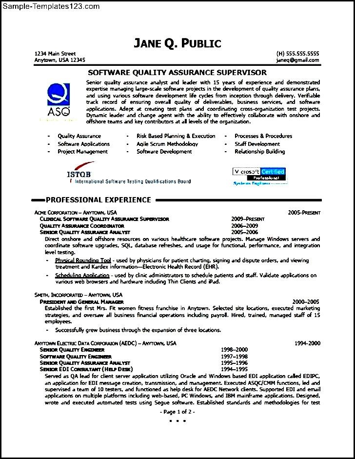 quality control manager resume - Minimfagency - quality assurance manager resume sample