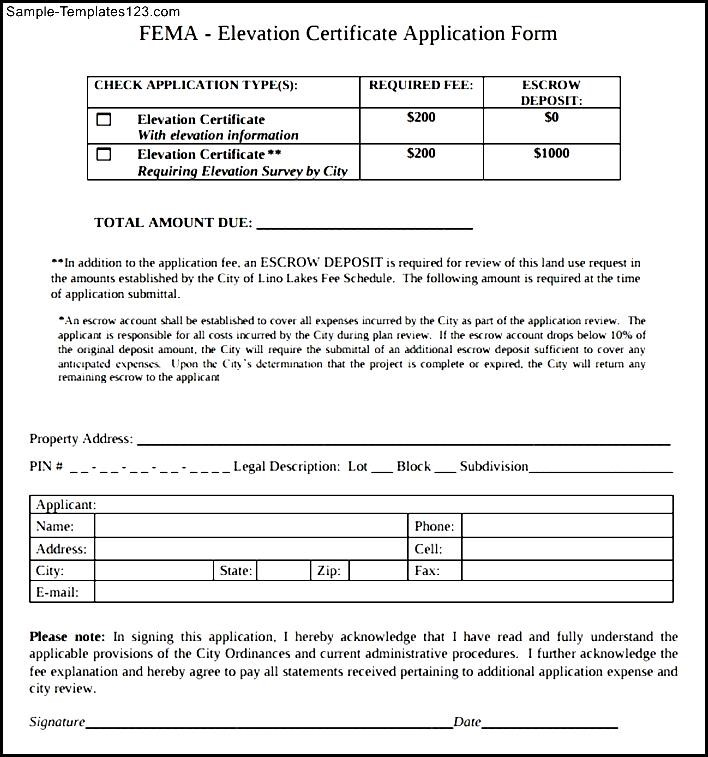 Simple FEMA Application Form - Sample Templates - Sample Templates - fema application form