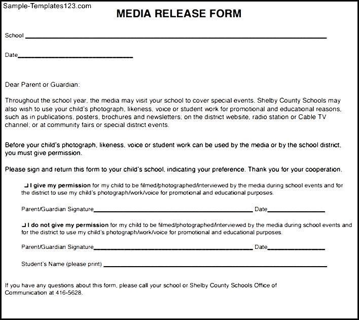 media release form template - Militarybralicious - photo release form