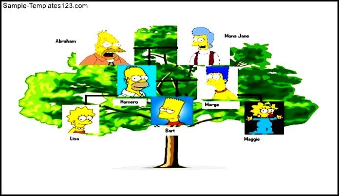 Simple Powerpoint Family Tree Example Template Free - Sample
