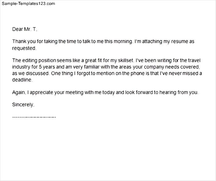 Thank You Letter Format For Interview Gallery - letter format formal