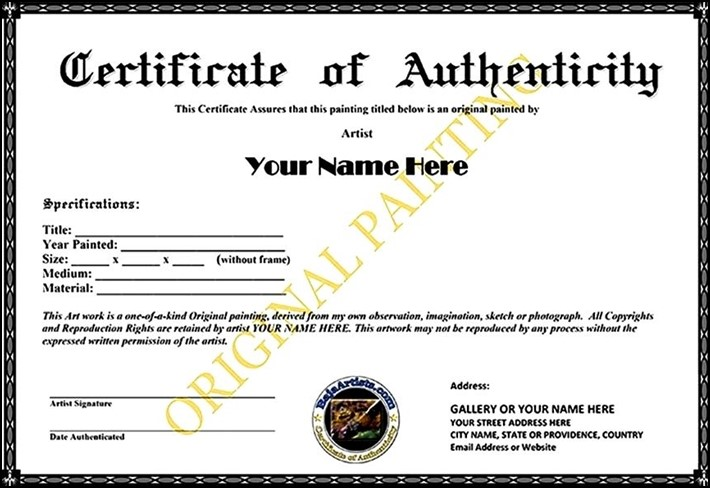 Art Certificate Template Costumepartyrun