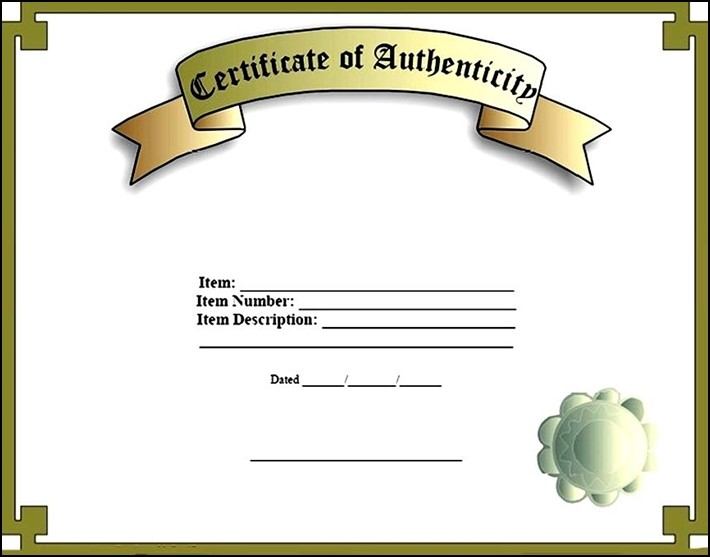 printable certificate of authenticity - Minimfagency - free printable certificate of authenticity templates