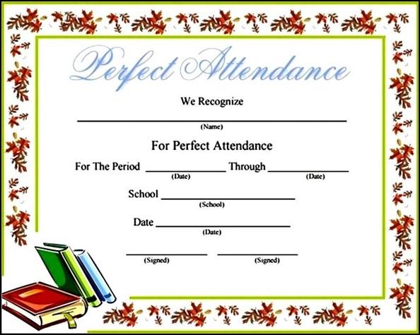 Free Blank Printable Attendance Certificate Template - Sample