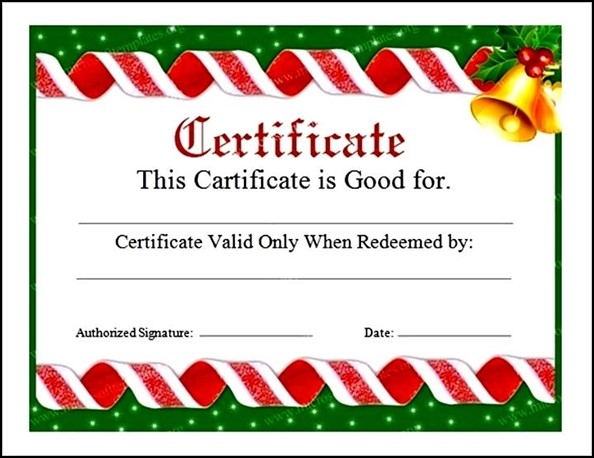 Free Gift Certificates Templates Download - mandegarinfo - Christmas Certificates Templates For Word