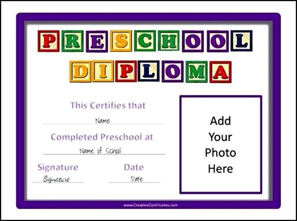 Preschool Diploma Template Preschool Diplomas Kindergarten - Printable Preschool Diplomas
