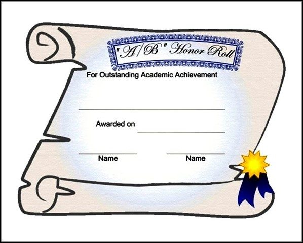 Free Templates For High School Certificate Templates Pinterest The - free honor roll certificate template