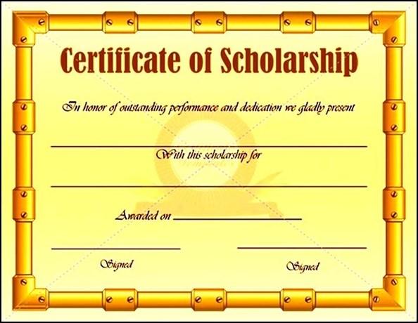 scholarship certificate examples - Goalgoodwinmetals