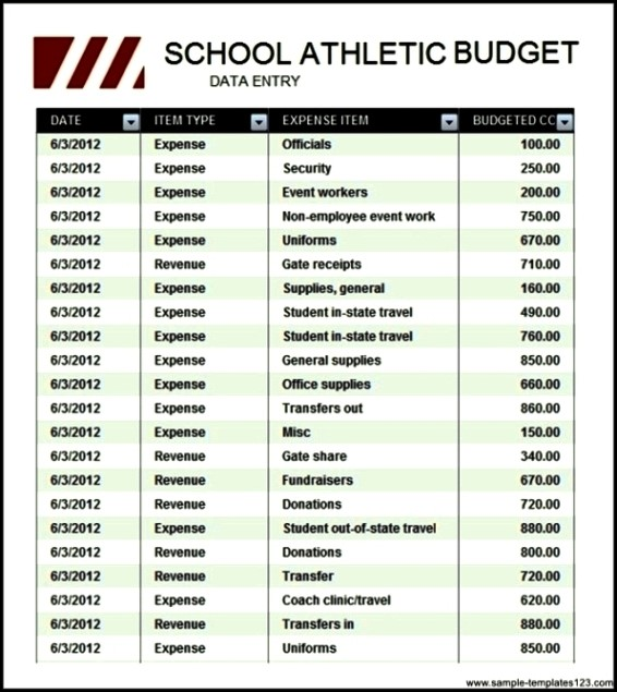Athletic Budget cvfreepro
