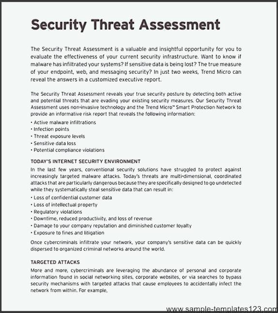 Network Security Assessment Template - Sample Templates - Sample - network assessment template