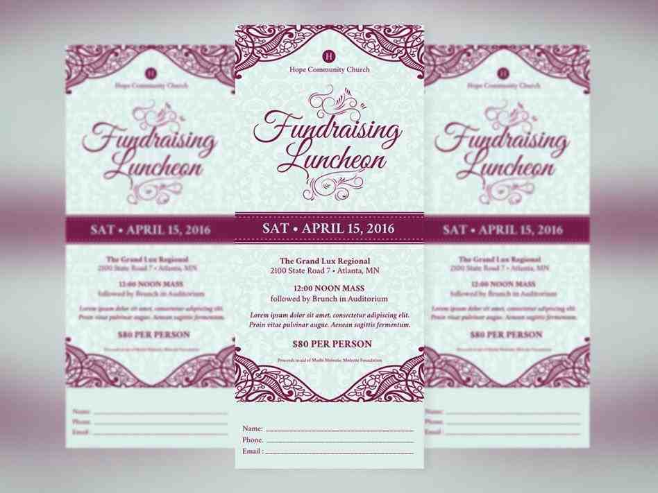 Lunch Flyer Template - Sample Templates - Sample Templates - luncheon flyer template