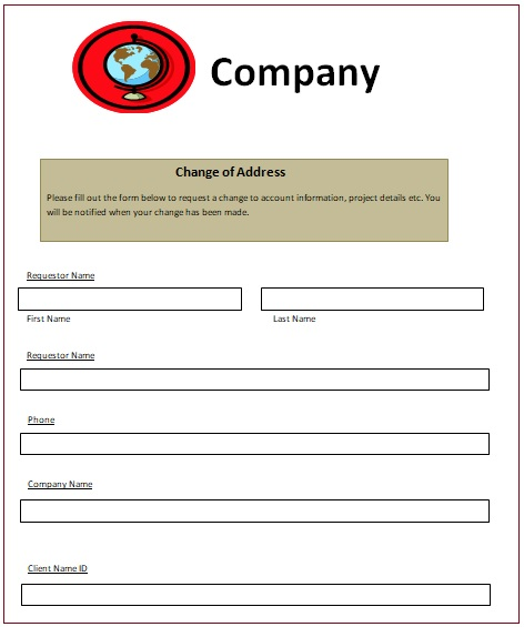 Change of Address Notice Templates 6+ Free Word, Excel  PDF