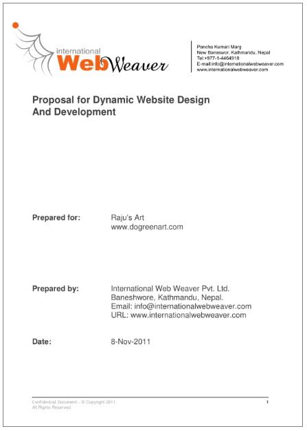Website Design Proposal Templates 3+ Printable PDF  Word - website proposal sample