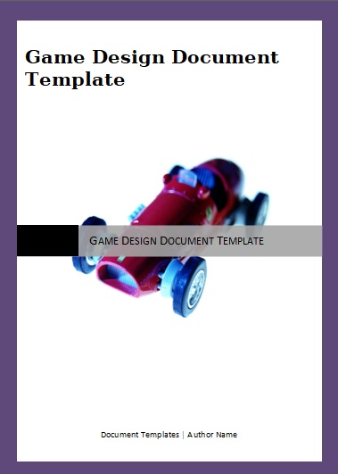 Game Design Document Templates 2+ Free Printable Word  PDF Formats