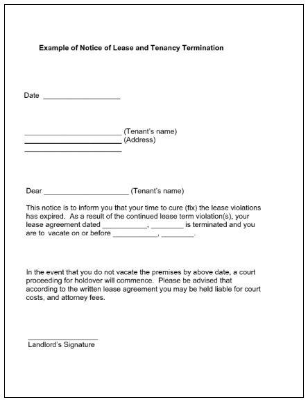 Lease Termination Notice Templates 4+ Free Word  PDF - termination notice template