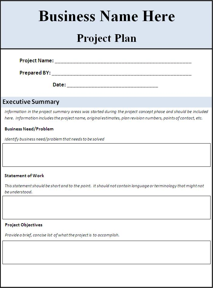 Project Planning Templates 10+ Printable Word, Excel  PDF Formats - Planning Template Word