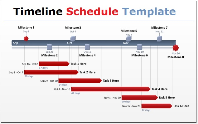 Timeline Schedule Templates 3+ Free PDF, Excel  Word