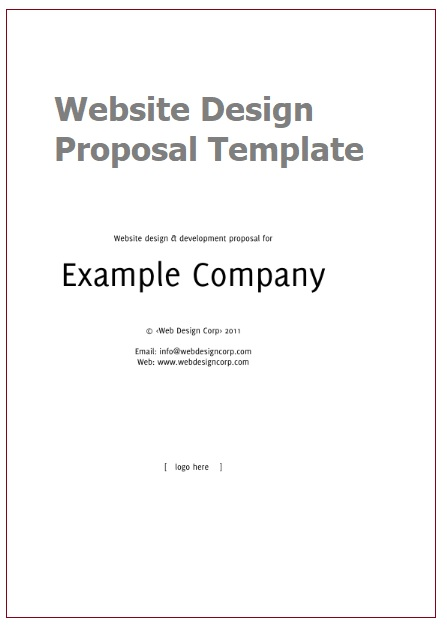 Website Design Proposal Templates 3+ Printable PDF  Word