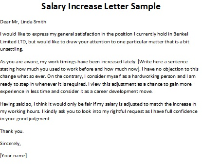 How To Ask For A Raise Letter - Template