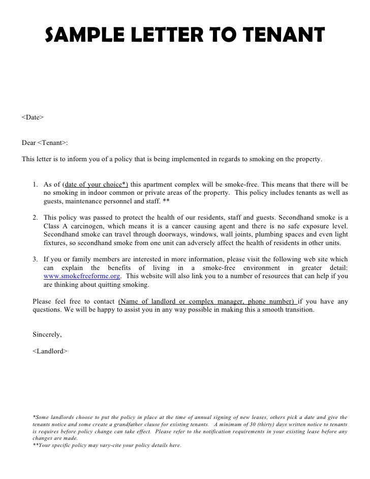 Notice To Terminate Tenancy At Will By Tenant Hashdoc Tenant Letter - notice to tenants template