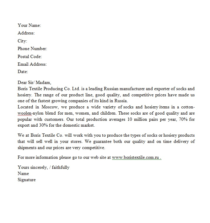 Doc585670 Sales Letter Examples 10 Sales Letter Templates – Product Sales Letter Sample