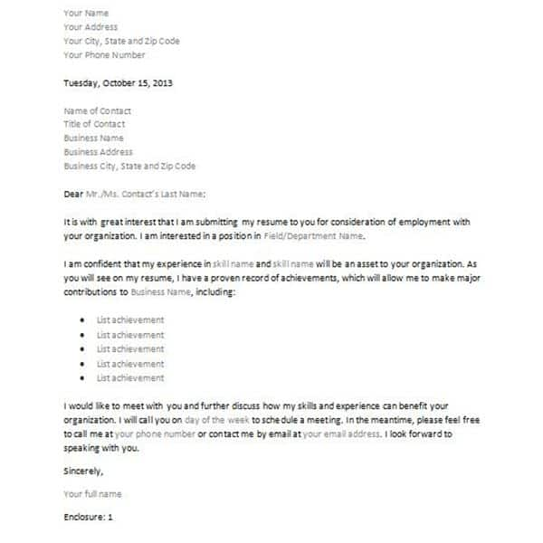 job inquiry letter - Towerssconstruction