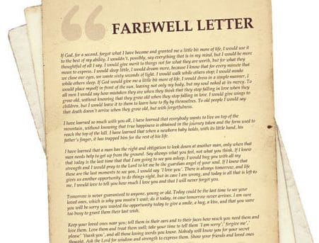 12+ Sample Farewell Letters - Sample Letters Word